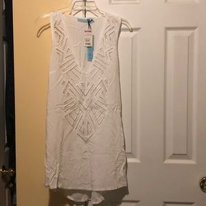 Other - New w tags! White beach throw-on. Size S